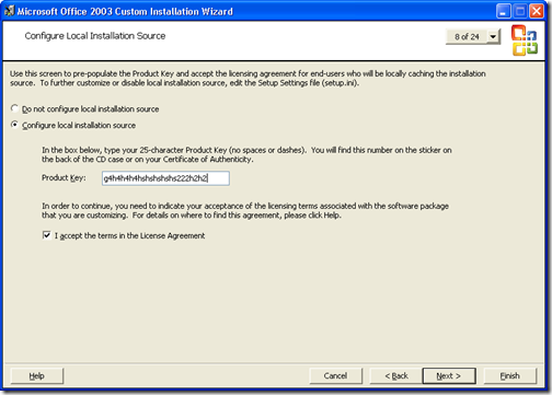 configure local installation source