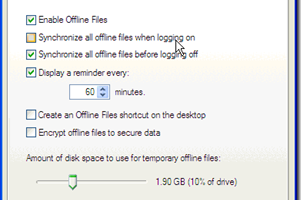 Increase Offline Files 2 GB Storage Limit in Windows