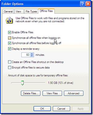Offine files windows