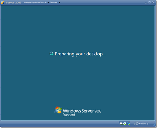 Preparing your desktop.