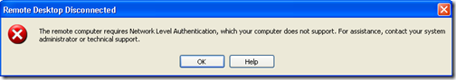 Remote desktop error