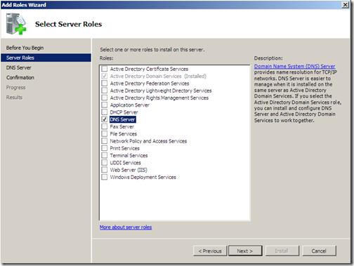 choosing server role