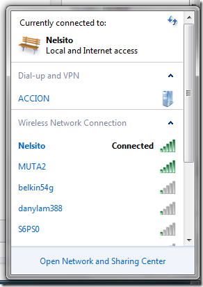 available wireless access point