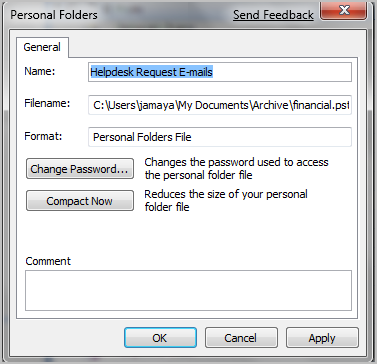 how to create archive folder in outlook 2007