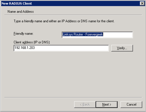 Setup Linksys Router With Radius Server Authentication