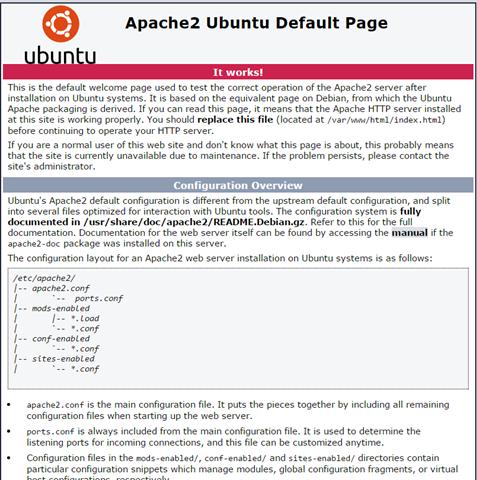 Ubuntu Apache Page