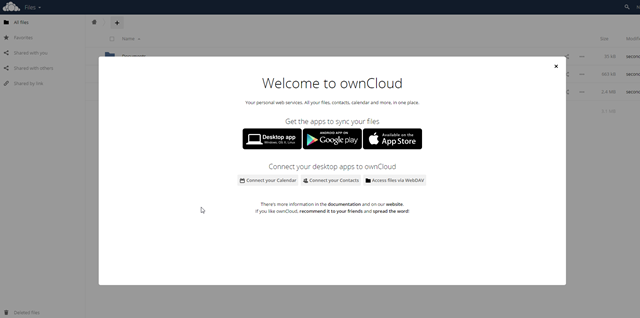 owncloud user panel