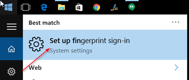 fingerprint sign-in