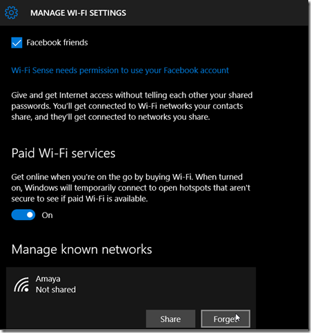 manage wifi settings