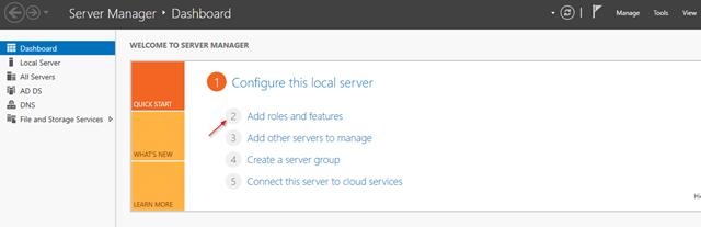 Windows 2016 Server Manager DFS
