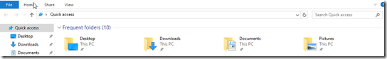 Windows Explorer Quick access mode