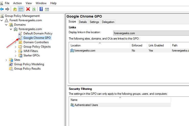 GPO for Google Chrome