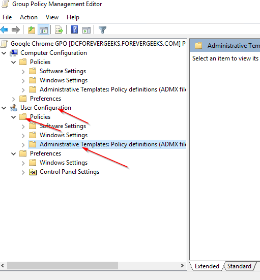 right click the administrative templates and click on addremove templates
