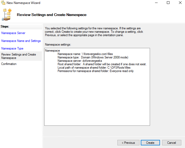 How to set up DFS Namespaces in Windows Server 2016