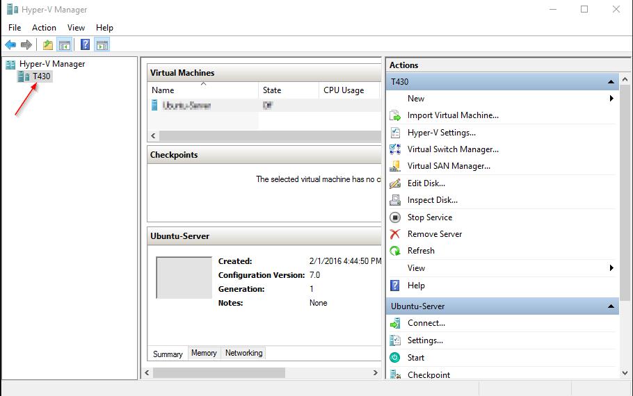 Install Hyper-V hypervisor in Windows 10