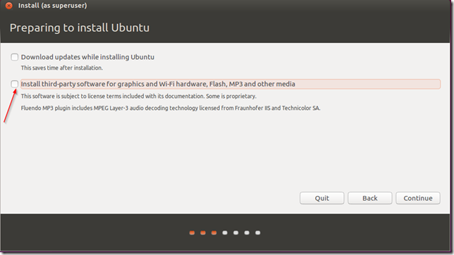 prepare ubuntu for installation