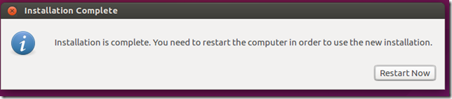 finishing the ubuntu installation