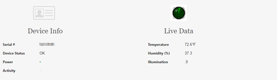 Sensor web GUI