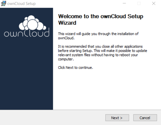 ownCloud Installation Wizard