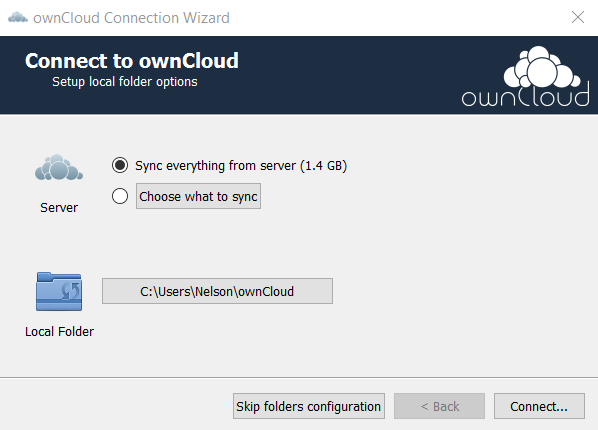 Connect to ownCloud