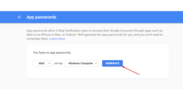 Google App Password