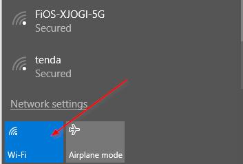wifi task panel icon
