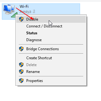 disable wifi