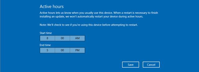 Windows 10 Active Houes