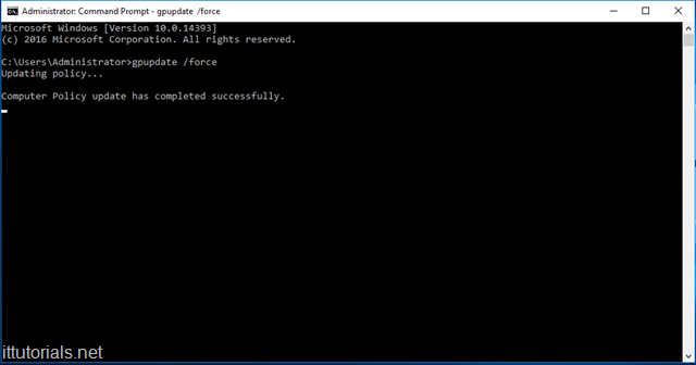 command prompt updating GPO