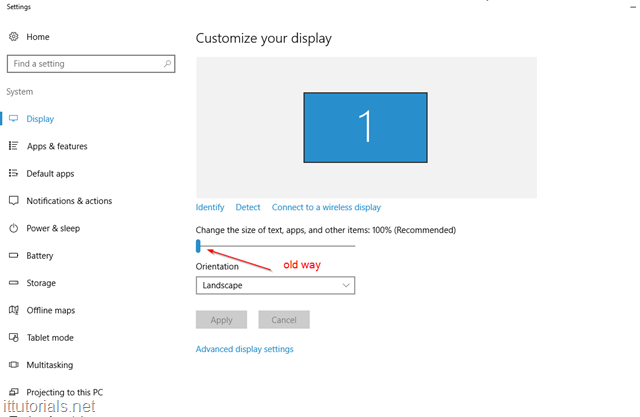 customize display Windows 10
