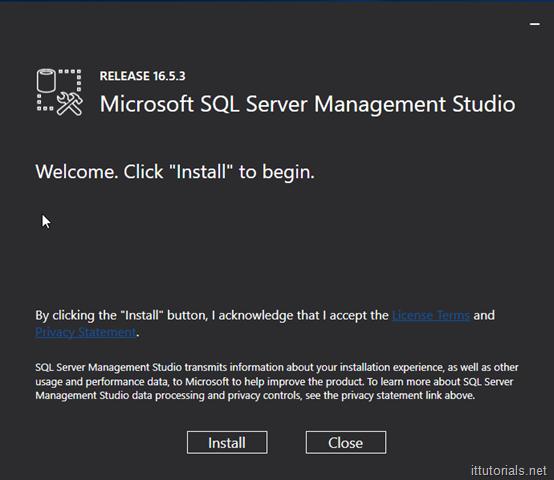 Microsoft SQL Server Management Studio Installation