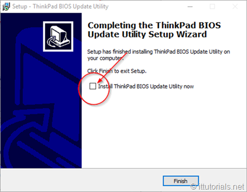 install the BIOS update