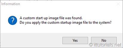 custom image detected prompt