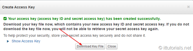 Amazon s3 access keys