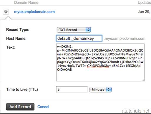 DKIM Example Record