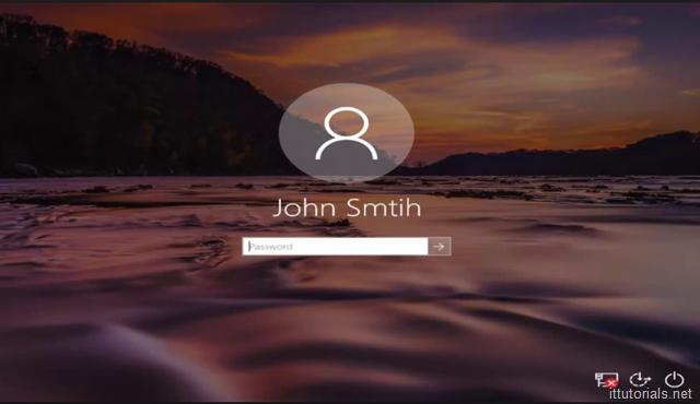 Windows 10 Logon Screen