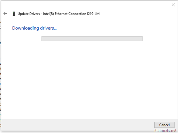 downloading driver window