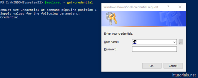 PowerShell Authentication Window