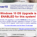 Block Windows 10 upgrade on Windows 7